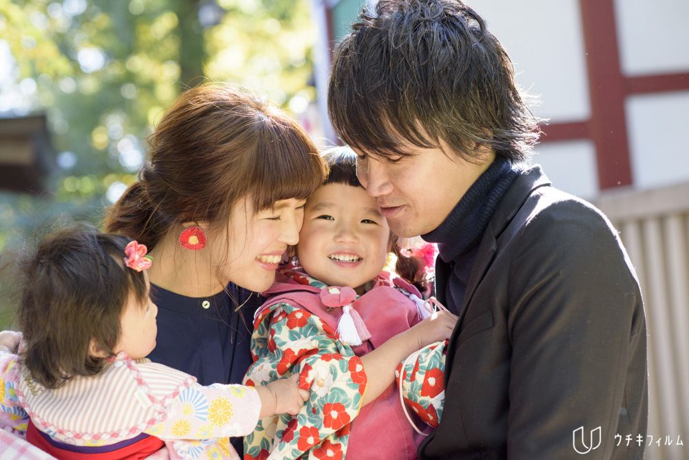 南沢氷川神社での3歳の七五三