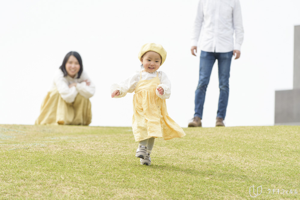 吾妻山公園での2歳の誕生日記念