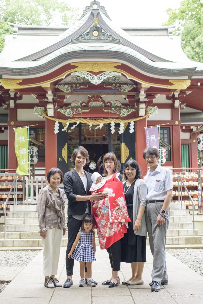 南沢氷川神社でのお宮参り出張撮影