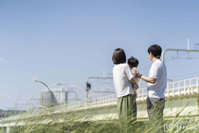 狛江市での1歳の誕生日記念の撮影