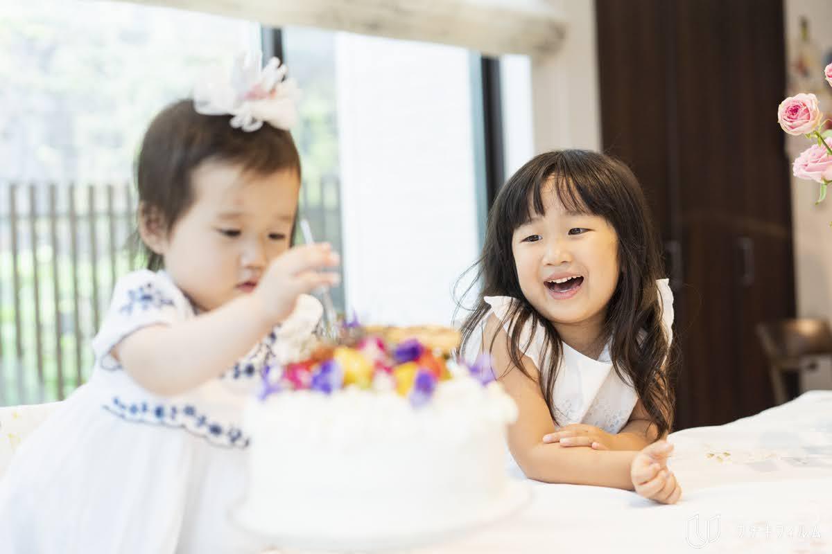 1歳の誕生日の出張撮影