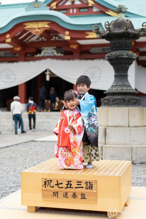 日枝神社での七五三出張撮影