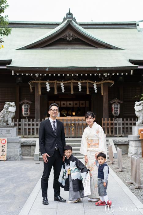 お三の宮日枝神社での七五三出張撮影
