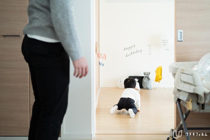 1歳の誕生日ご自宅への出張撮影