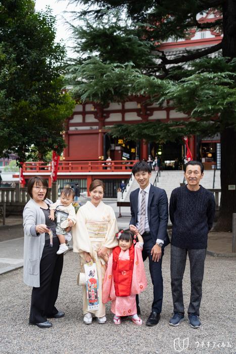 浅草神社での七五三出張撮影